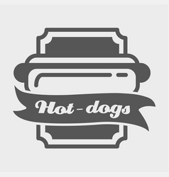 hotdog badge label logo or icons design vector image vector image