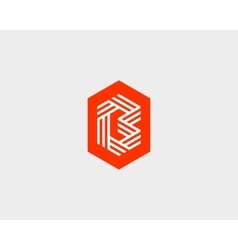 Letter B logo icon design Creative line vector image vector image