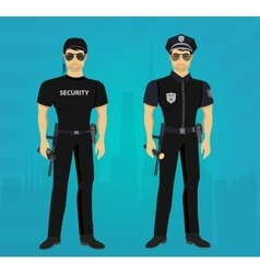 Security and Policeman guards concept vector image vector image