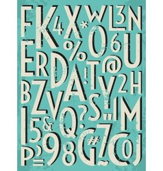 vintage letters and numbers vector image vector image