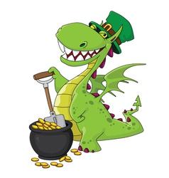 dragon leprechaun vector image vector image