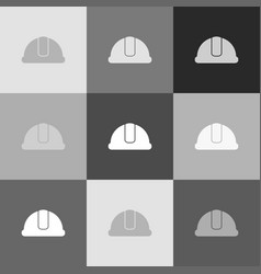 hardhat sign grayscale version of popart vector image