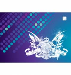 music emblem with dj vector image vector image