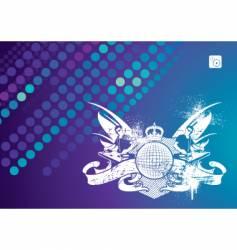 music emblem with dj vector image