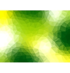 Polygonal Background for webdesign - Green colors vector image vector image