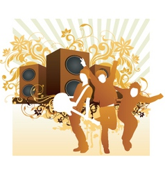 rock band illustration vector image vector image