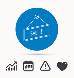 sale icon advertising banner tag sign vector image