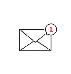 thin line notification icon speech bubble vector image vector image