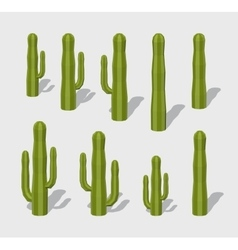 Cube World Cactuses vector image