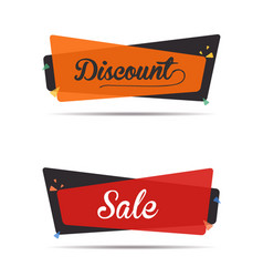 discount and sale tags set vector image