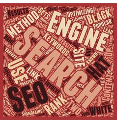 Black White The Philosophies of SEO text vector image