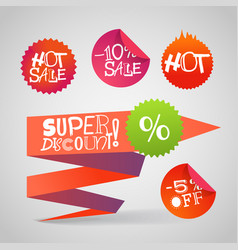 color polygonal origami shopping banners super vector image vector image