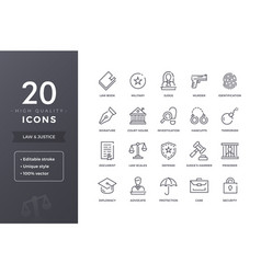 law line icons vector image