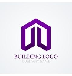 logo design building vector image vector image