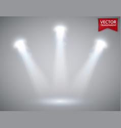 spotlights scene transparent light effects stage vector image vector image