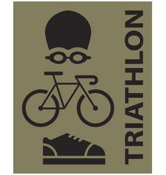 triathlon sport icon vector image