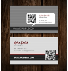 abstract creative business cards set template vector image