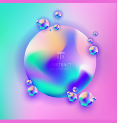 Abstract trendy 3d circle gradient vibrant color vector