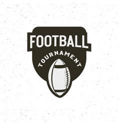 american football logo sport emblem badge vector image