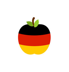 apple germany flag german national fruit vector image