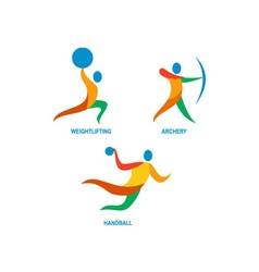 Archery Weightlifting Handball Icon vector image