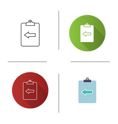 Assignment return icon vector