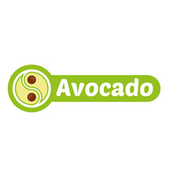 Avocado logo vector