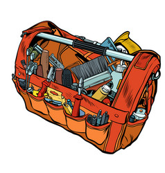 bag with working tools vector image