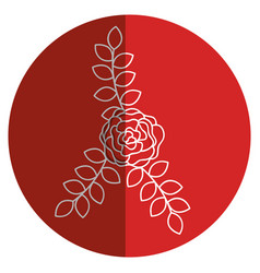 Beautiful rose decoration icon vector