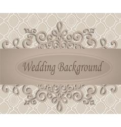 Beige wedding background vector