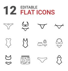Bikini icons vector