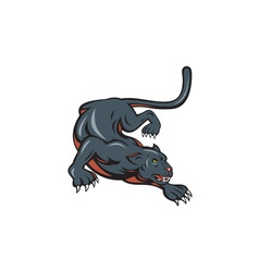 Black Panther Crouching Cartoon vector image
