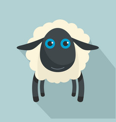 black sheep icon flat style vector image