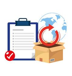 Box with checklist vector