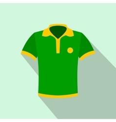 brazilian yellow and green soccer shirt icon vector image