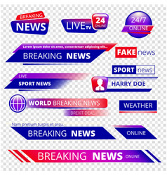 Breaking news television channel broadcasting vector