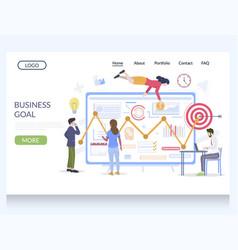 business goal website landing page design vector image