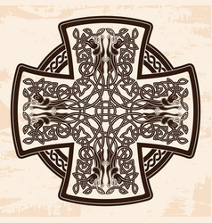 Celtic national cross vector