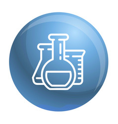 chemistry flask icon outline style vector image