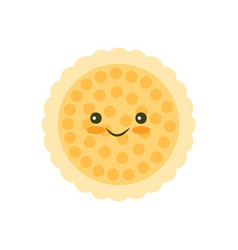 Chip cookie icon vector
