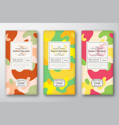 Chocolate labels set abstract packaging vector
