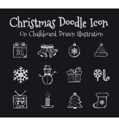 Christmas Drawn vector image