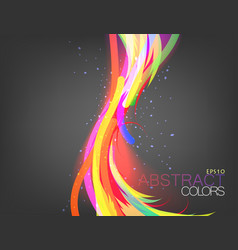 Colorful flowing vector