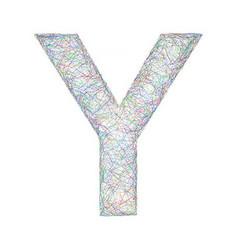 Colorful sketch font design - letter Y vector