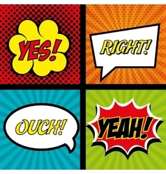 comics set bubble speech text graphic vector image