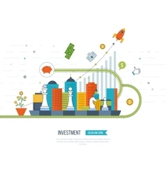concept for smart investment finance banking vector image