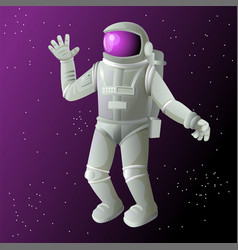 Cosmonaut in space astronaut in a spacesuit on a vector