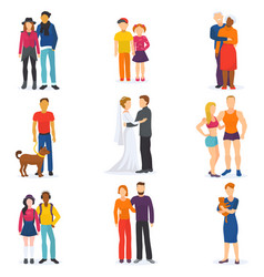 couple happy man and woman in love or young vector image