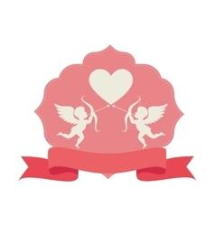 Cupid angel love card vector
