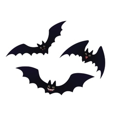 Cute flying Bats in flat cartoon style vector